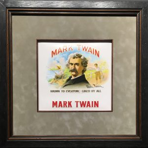 mark twain cigar label.
