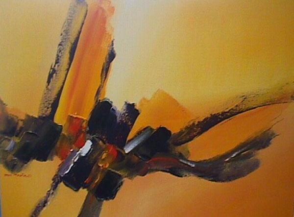 Emotion in Orange by artist Paul Tapia