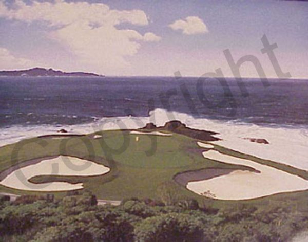 The Seventh at Pebble Beach by artist Danny Day