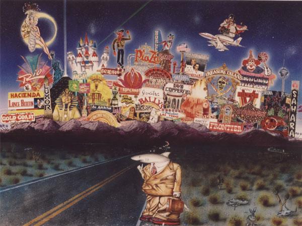 Vintage Vegas – Card Shark 1995 by artist Matthew Edwards