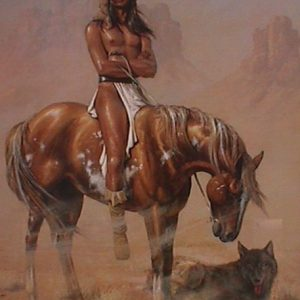 Desert Wolf by artist Herman Adams