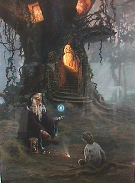 Merlin's Oak by artist Herman Adams