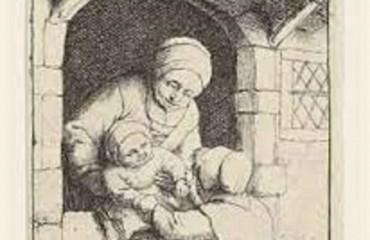 Mother with Two Children – Adriaen van Ostade  (SOLD)