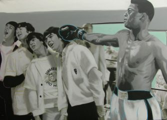 Muhammad Ali & The Beatles by Steve Kaufman – 1997