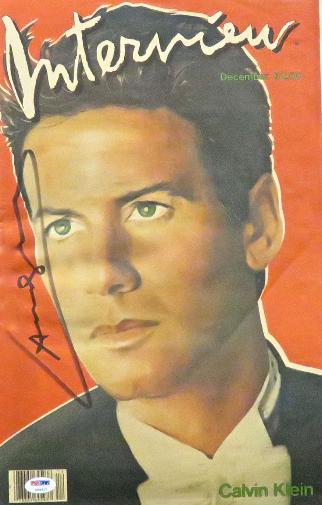 Interview Magazine Calvin Kline 1982