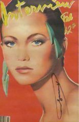 Interview Magazine – Diane Lane 1981 – Signed by Andy Warhol