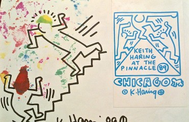 Two Original Drawings by Keith Haring  (SOLD)