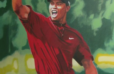 Tiger Woods by Steve Kaufman  (SOLD)