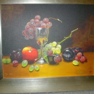 Original Hand Embellished Artist Proof Print on Canvas by Luba Stolper