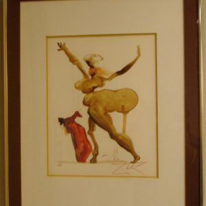original hand signed in colored pencil artist's proof woodblock from Dante's Divine Comedy by Salvador Dali