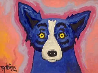 Blue Dog – George Rodrigue  (SOLD)