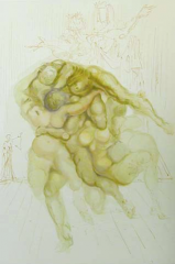 The Irascible (Inferno – canto ) by Salvador Dali  (SOLD)