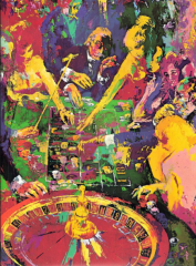 Green Table by LeRoy Neiman – SOLD