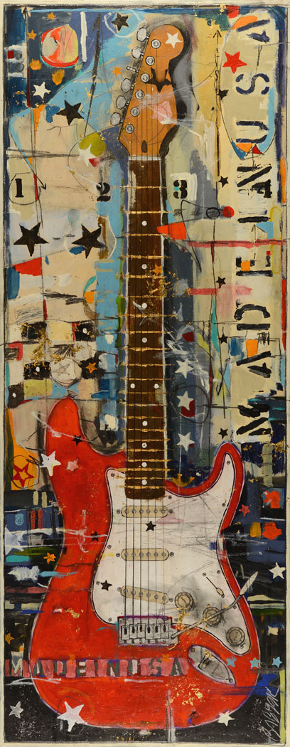 Red Stratocaster By Michael Babyak