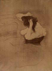 Femme Qui Se Peigne – La Coiffure by Henri de Toulouse-Lautrec