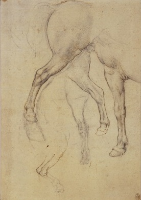 145 recto - by Leonardo da Vinci - Art encounter - Queen's Collection