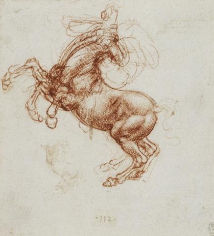 113 recto by Leonardo da Vinci Queen's Collection