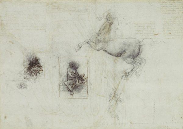 118 recto by Leonardo da Vinci Queen's Collection