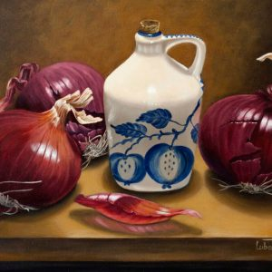 Onion Harvest - by Luba Stolper - Art encounter