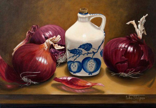 Onion Harvest - by Luba Stolper - Art encounter