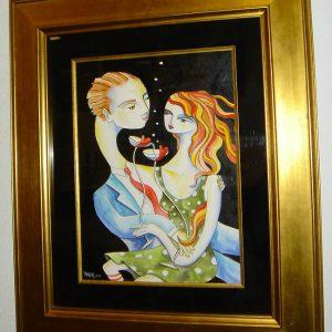 Her Love Knocked Me Off My Feet - Jennifer Main - Art encounter