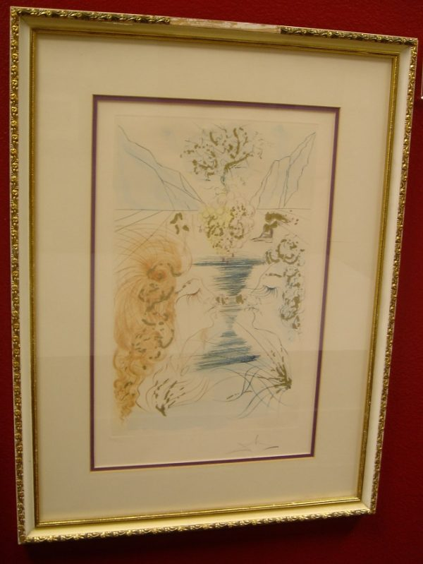 """Original Hand Signed Etching, """"Let Him Kiss Me With The Kisses Of His Mouth"""" by Salvador Dali"""