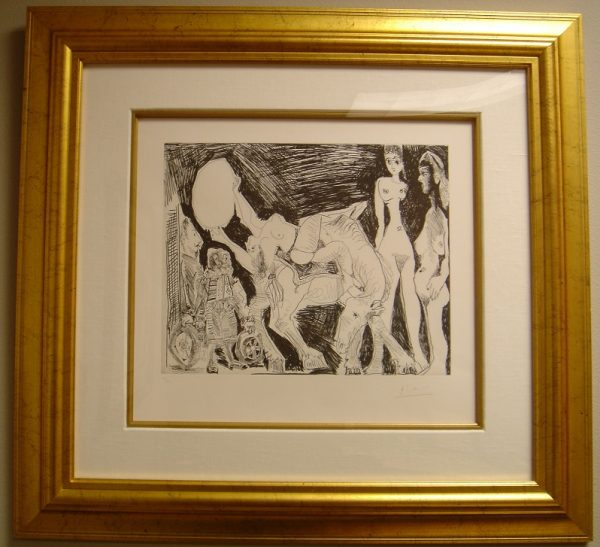 Original hand signed etching from the 347 Series by Pablo Picasso