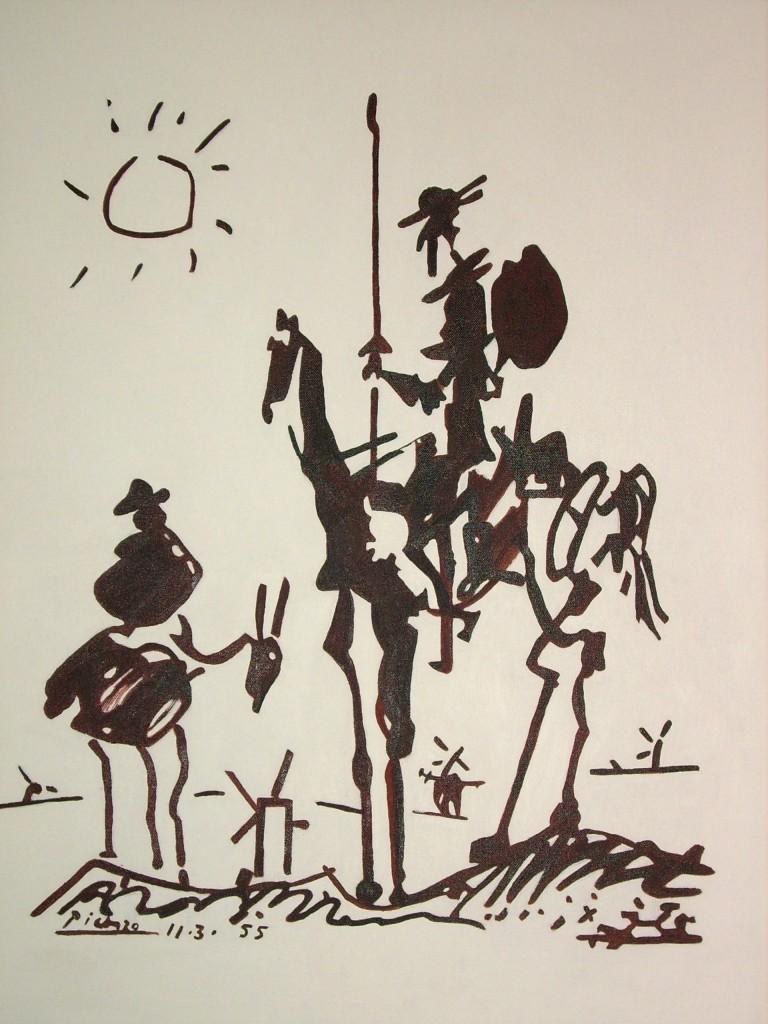 Don-Quixote by Pablo Picasso