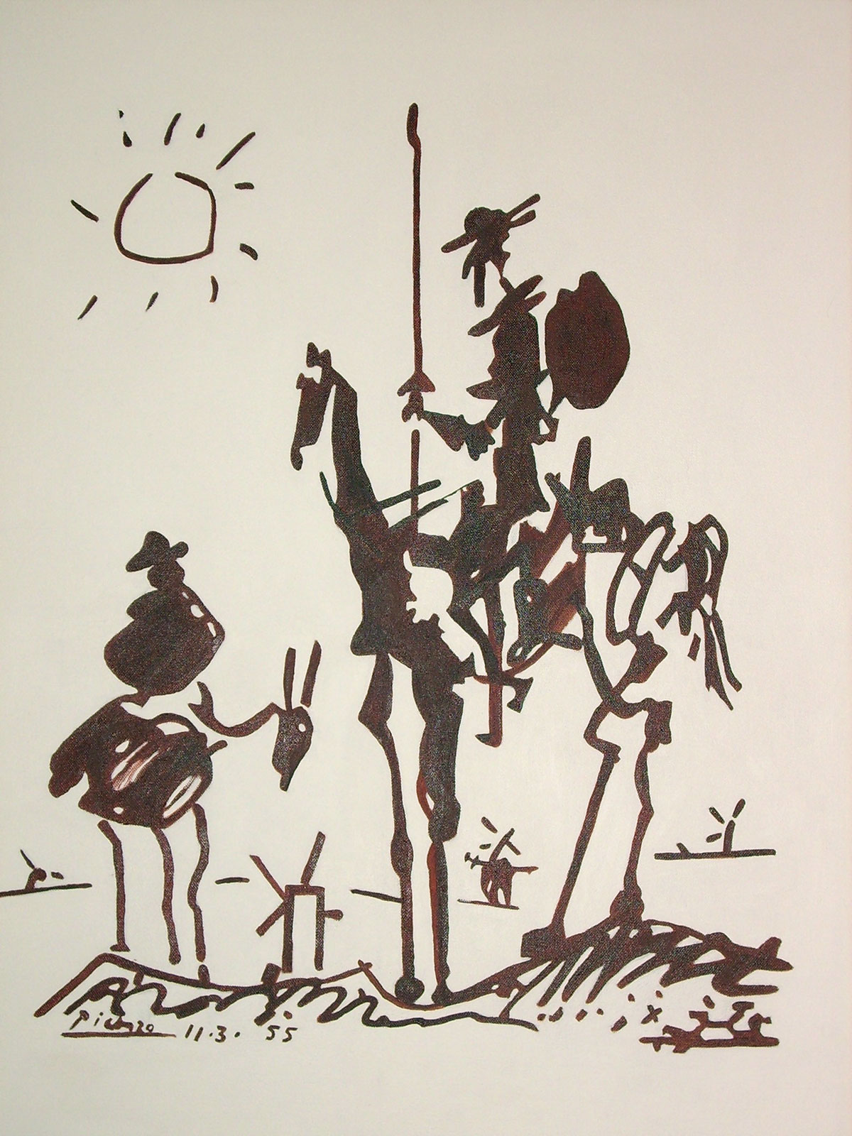 Don-Quixote by Pablo Picasso
