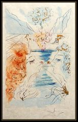 Let Him Kiss Me With The Kisses Of His Mouth by Salvador Dali (SOLD)