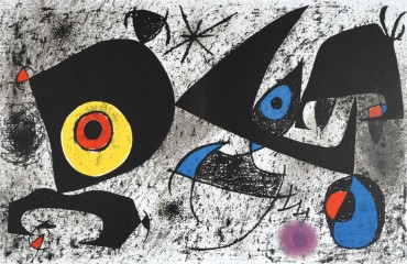 Homage to Miro by Joan Miro  (SOLD)