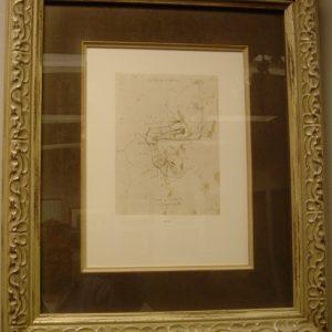94 Recto Framed - by Leonardo da Vinci