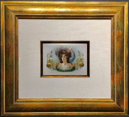 Woman in Feathered Hat – Cigar Label Art