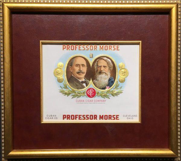 Professor Morse Cigar Label.