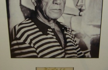 Original Signature and Photograph by Pablo Picasso