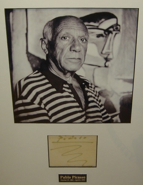Original Signature and Photograph by Pablo Picasso – Art encounter