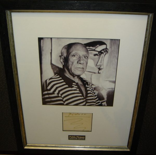 Original Signature and Photograph by Pablo Picasso - Art encounter