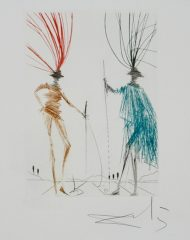 Two Gentlemen of Verona by Salvador Dali  (SOLD)