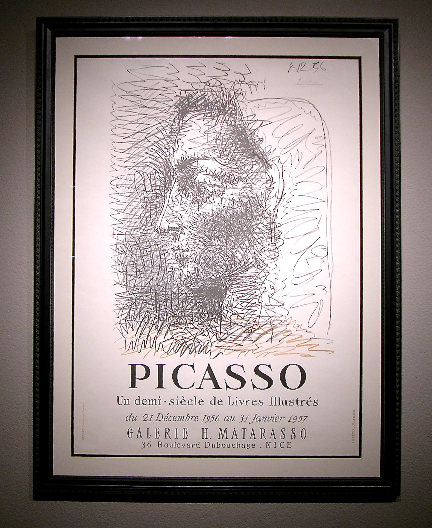 Picasso Signed Exhibition Poster 1956