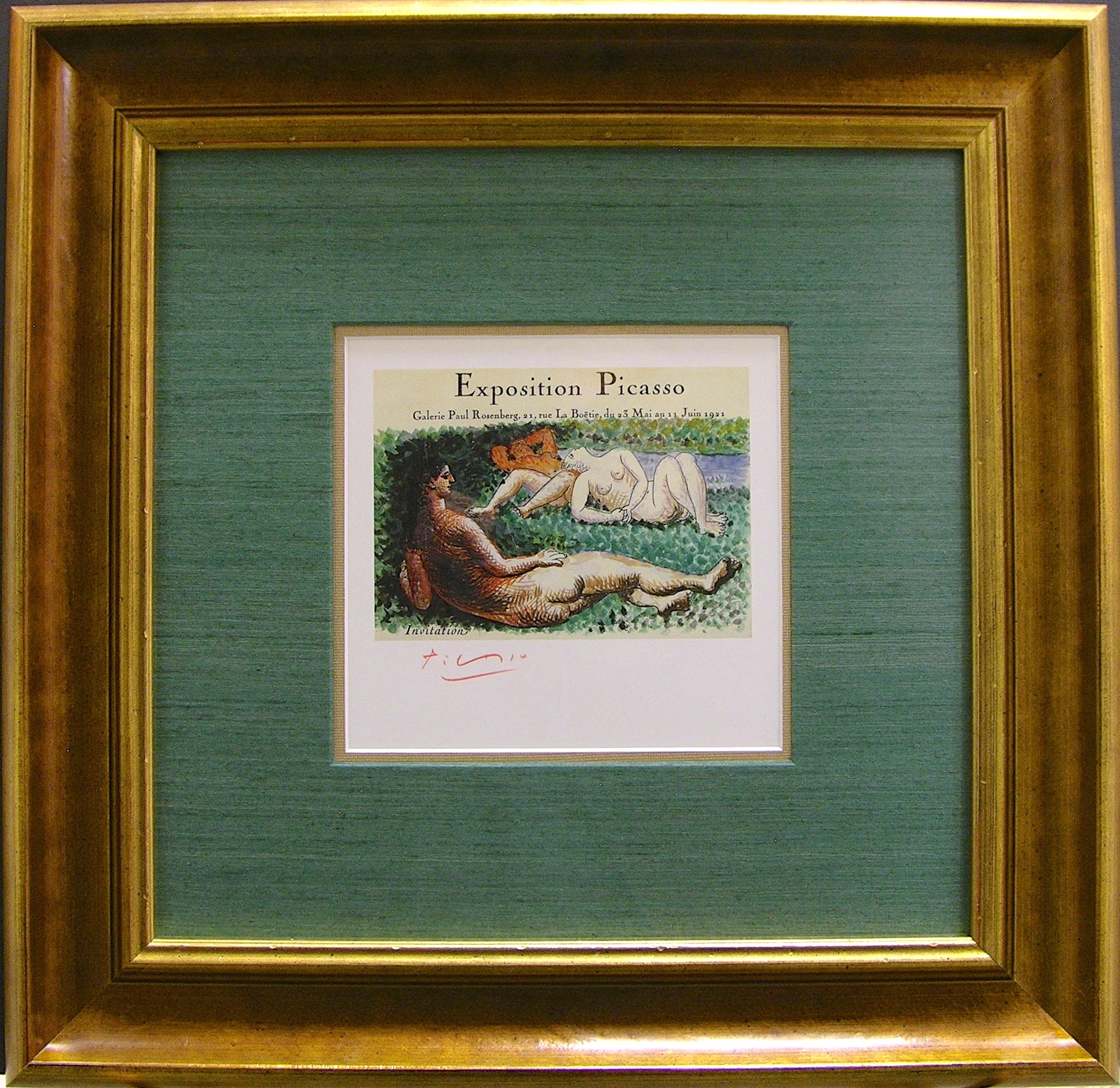 Signed Picasso Exposition Card
