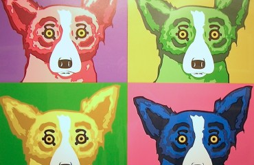 The Four Tops by George Rodrigue  (SOLD)