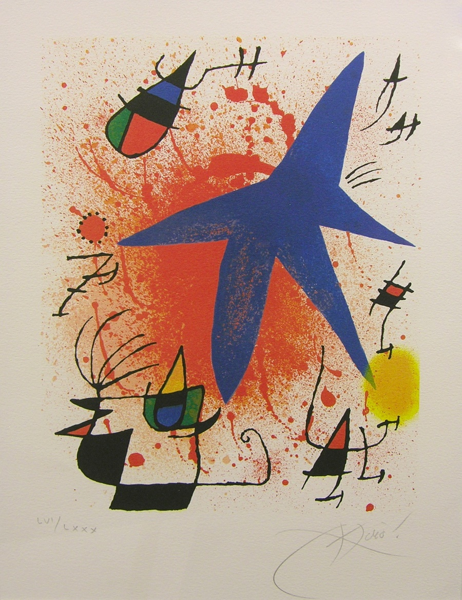 Joan Miro Blue Painting