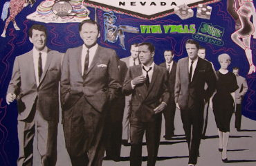 Rat Pack Lights Up Las Vegas by Steve Kaufman (SOLD)