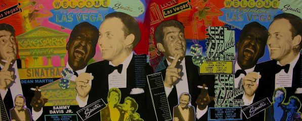 Rat Pack at the Sands / Caesars by Steve Kaufman – SOLD