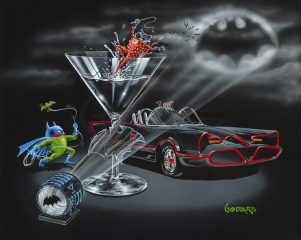 Bat-Tini (Super Hero) by Michael Godard