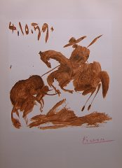 Toros Y Toreros Picador Lithograph signed by Picasso (SOLD)