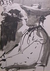 Portrait of Luis Miguel Dominguin – Lithograph signed by Picasso  (SOLD)