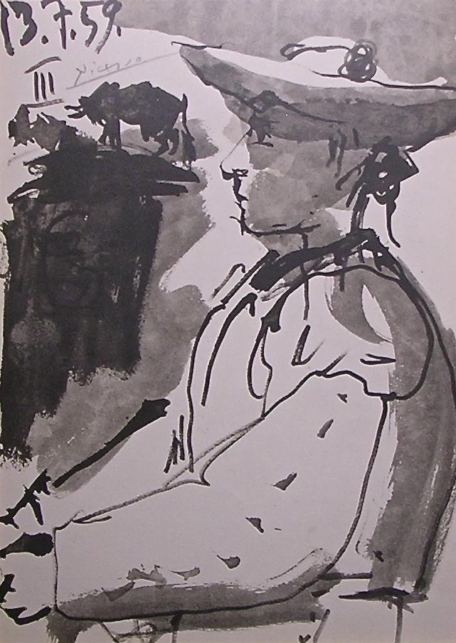 Portrait of Luis Miguel Dominguin by Pablo Picasso