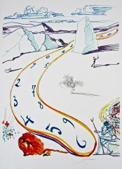 Fabulous Melting Space-Time by Salvador Dali  (SOLD)