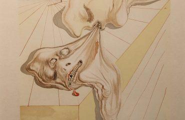 Gianni Schicchi's Bite (Inferno – canto # 30) by Salvador Dali – SOLD